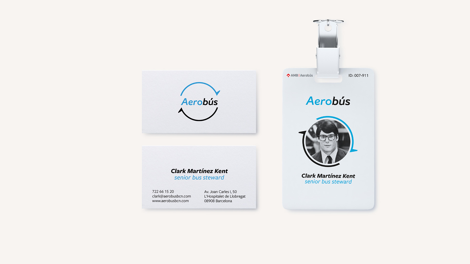 Brand identity for Aerobus Barcelona by FUERA