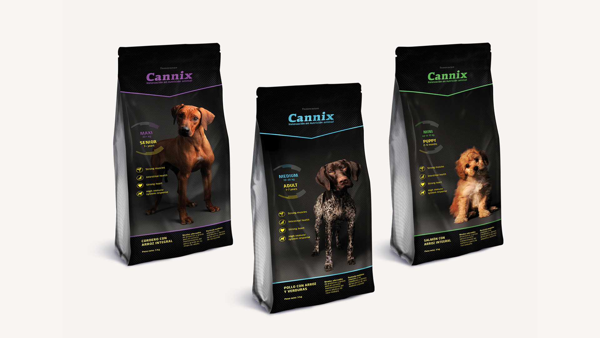 Identity and packaging for Cannix dog food by FUERA